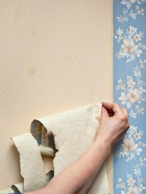 Wallpaper removal by Mars Painting.