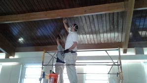 Stripping, Sanding, Staining, & Varnish of Ceiling at Free Mason's Lodge in Highland Park, IL (7)