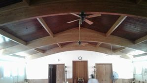 Stripping, Sanding, Staining, & Varnish of Ceiling at Free Mason's Lodge in Highland Park, IL (8)