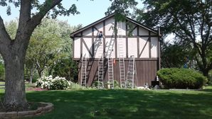 Before & After Cedar Siding Trim and Solid Stain in Hawthorn Woods, IL (1)