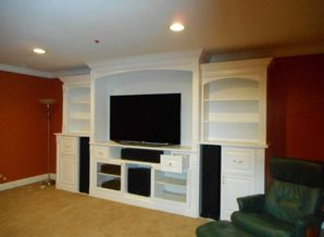 Before & After Entertainment Center Painting in Highland Park, IL (2)