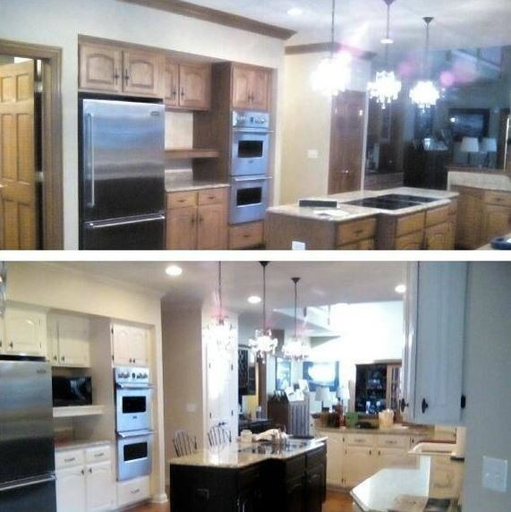 Before & After Cabinet Painting in Buffalo Grove, IL (1)